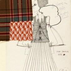 Bill Gibb (1943-88), fashion design, London, 1970. Museum no. E.123-1978
