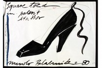Manolo Blahnik (b.1942), design for a shoe, Britain, 1980. Museum no. E.1334-1979