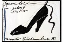 Manolo Blahnik (b.1942), design for a shoe, Britain, 1980. Museum no. E.1334-1979