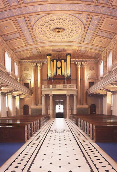 James  Athenian  Stuart  1713   1788    Victoria and Albert Museum Chapel  interior  looking towards the organ James Stuart  assisted by  Robert Mylne and