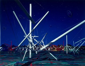 Kenneth  Snelson, 'Forest Devils' MoonNight' (detail), 1989, Museum no.  E.1046-2008. Given by the American Friends of the V&A through  the generosity of Patric Prince