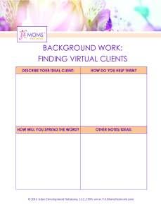 Worksheet: Finding Virtual Clients - www.VAMomsNetwork.com