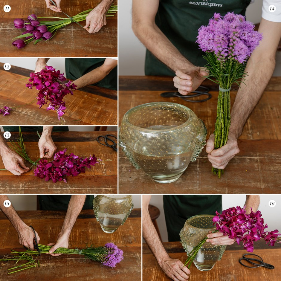 como fazer um arranjo de flores