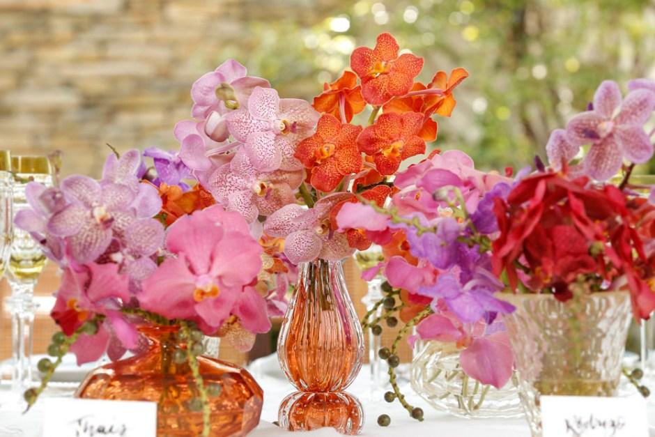 arranjo floral de orquideas vanda