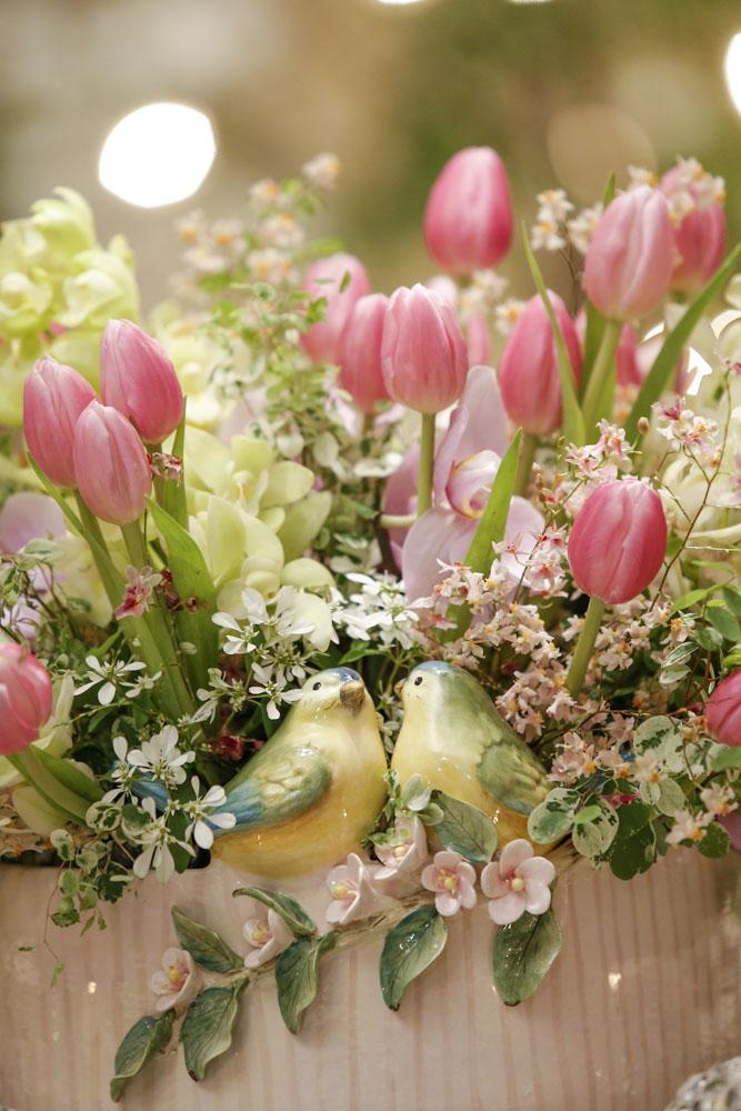 cachepot com flores