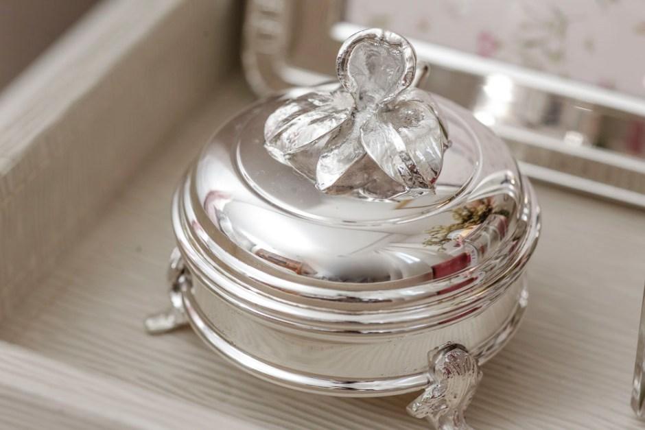 caixinha em prata tambem da linha Orquidea