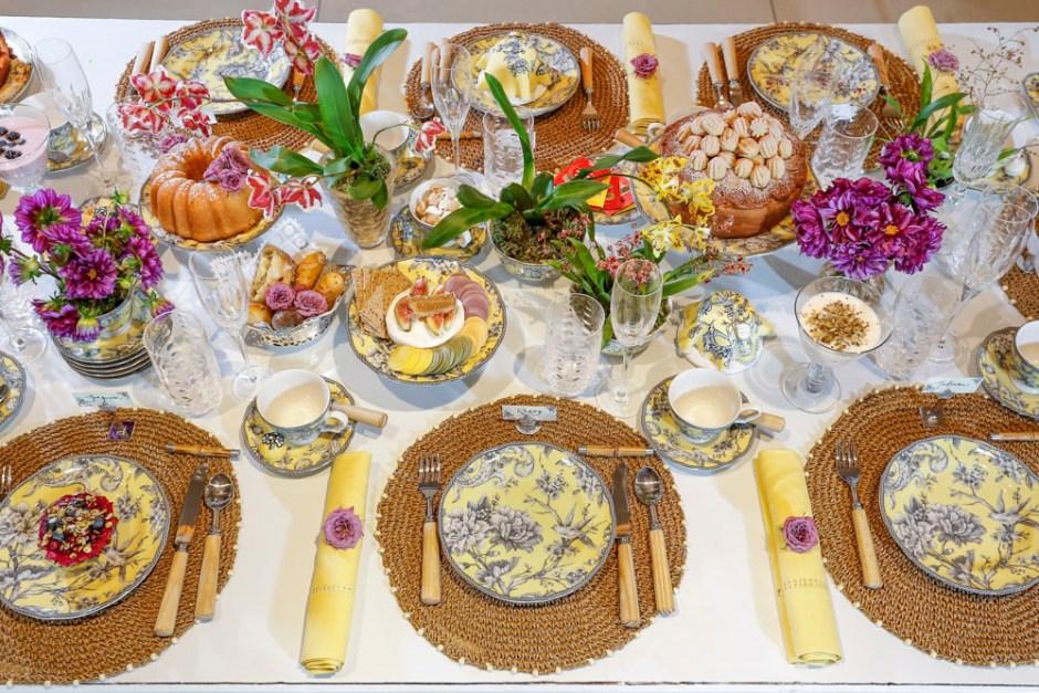 mesa de chá da tarde completa