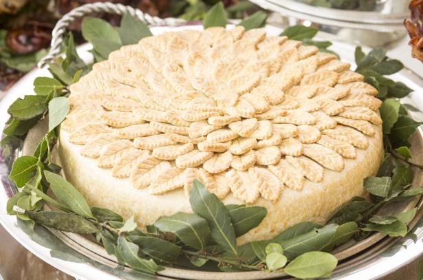 torta de frango cremoso com alho poró buffet Zest