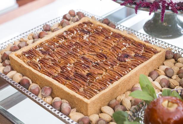 torta de nozes pecan buffet zest para o natal