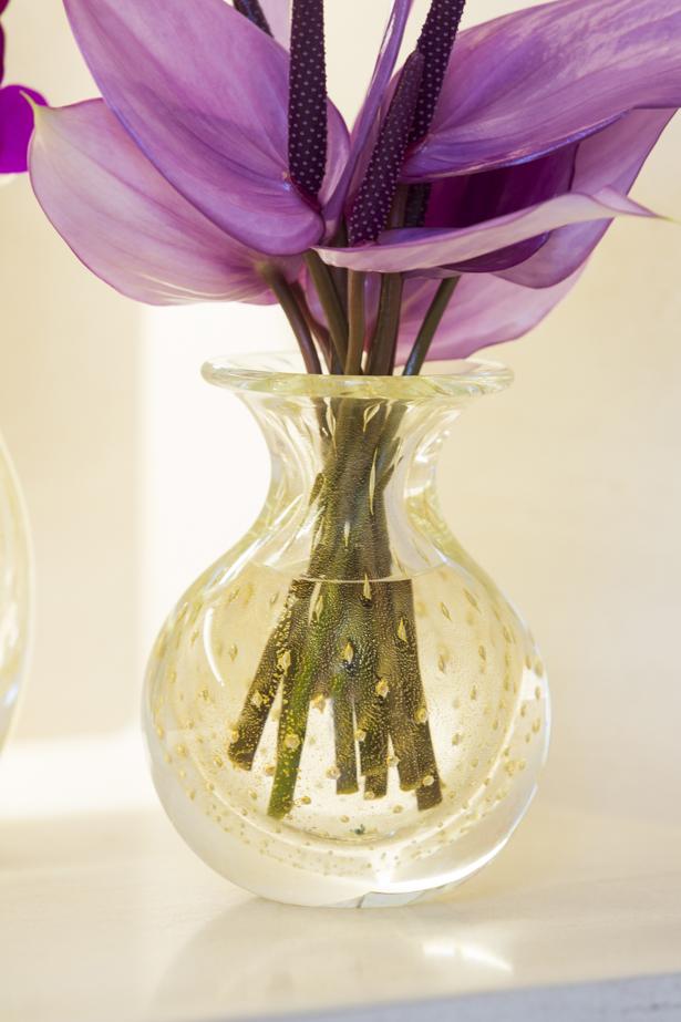 vaso de cristal com ouro Cristais Cá d'Oro