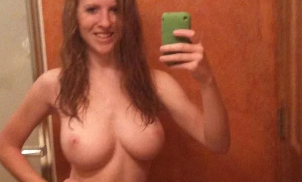 Erin Busty College Redhead