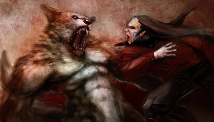 vampires and werewolves game