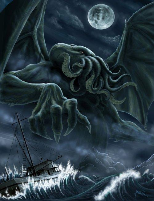 Rise of Chtulhu by ArcosArt - Immagine allegata all'articolo: Ciclo: Orrori dagli Abissi -H. P. Lovecraft e il Necronomicon (pt.5 Il Richiamo di Cthulhu)