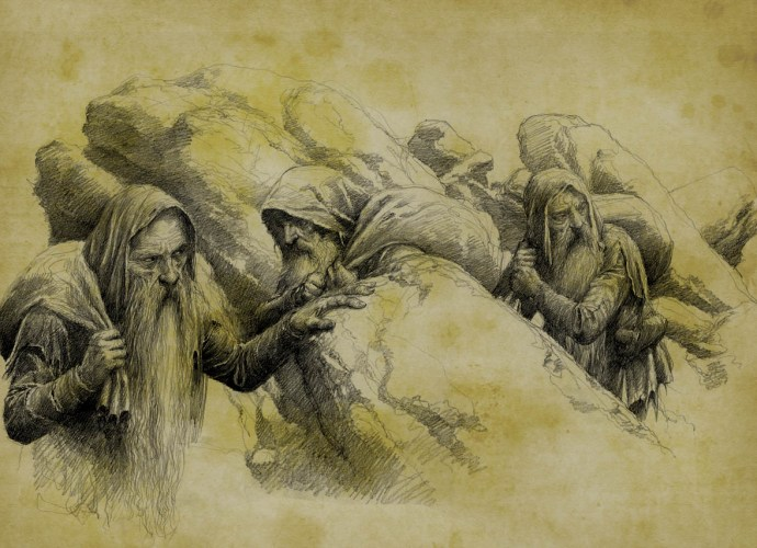 The Petty-dwarves: Mîm, Ibun and Khîm. - Moria Fabrizio Corselli