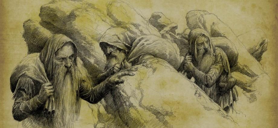 The Petty-dwarves: Mîm, Ibun and Khîm. - Moria Fabrizio Corselli