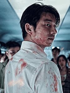 Gong Yoo nel ruolo di Seok-Woo in Train to Busan.