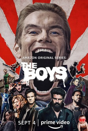 Laz Alonso, Karl Urban, Dominique McElligott, Antony Starr, Nathan Mitchell, Jessie T. Usher, Chace Crawford, Aya Cash, Erin Moriarty, Jack Quaid, Tomer Capon, and Karen Fukuhara in The Boys (2019)