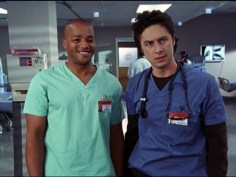 Zach Braff and Donald Faison in Scrubs (2001)