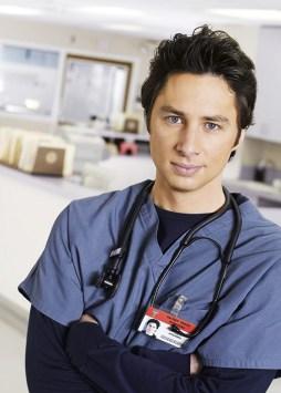 Zach Braff in scrubs