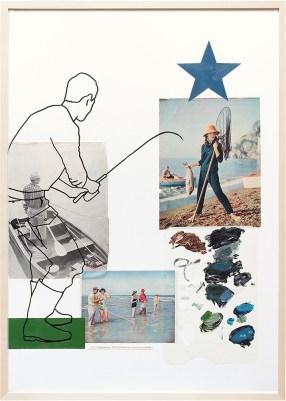 Angeln/VA26-5   Collage/Mixed Media   100 x 70 cm   gerahmt