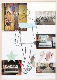 Büro/VA53-1a | Collage/Mixed Media | 100 x 70 cm | gerahmt