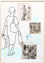 SB-Läden/VA52-1a | Collage/Mixed Media | 100 x 70 cm | gerahmt