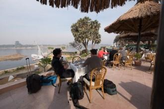 Jolie Ville Hotel - Terrasse mit Nilblick