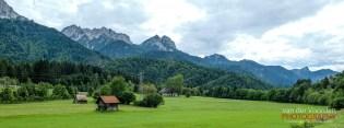 Bergwelt am Ciclovia Alpe Adria