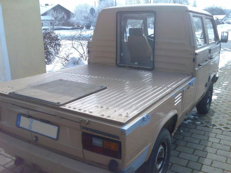 Doka Truck With Cut Out To The Bed Vanagon Hacks Amp Mods