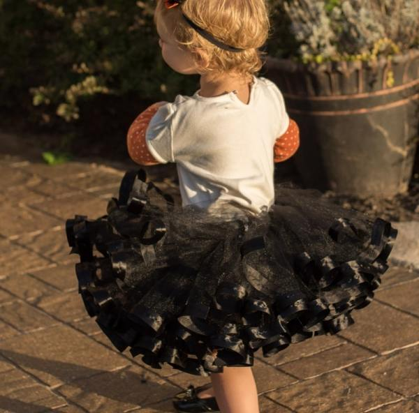 baby black cat tutu costume
