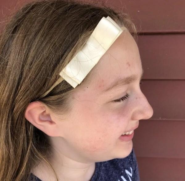 baby girl ivory bow headband