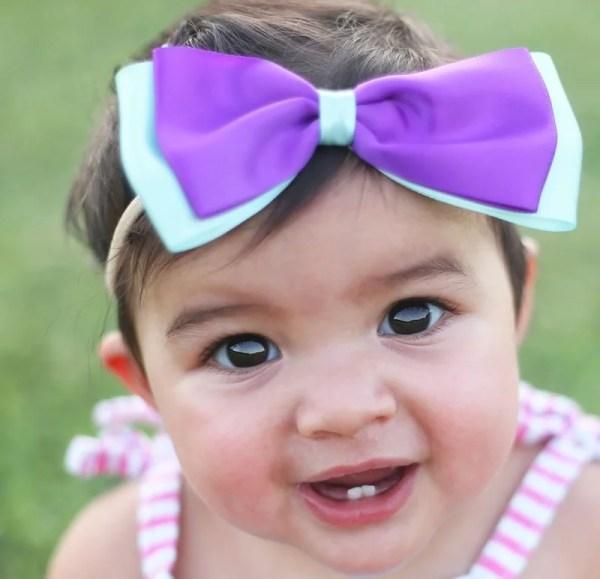 big bow headband for baby girl