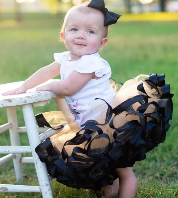 black and gold tutu dress