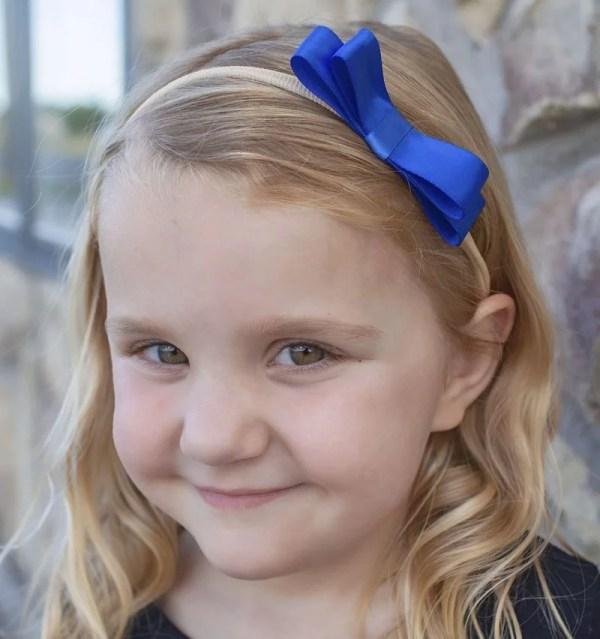 children's headband with bow