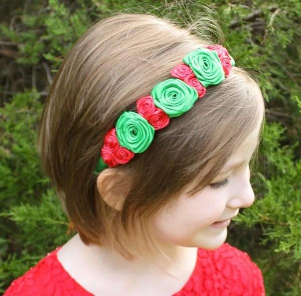 christmas headband baby girl