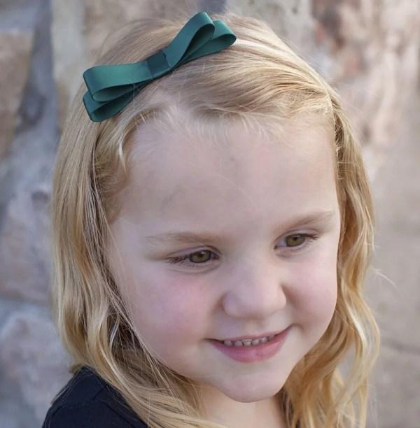 dark green bow headband