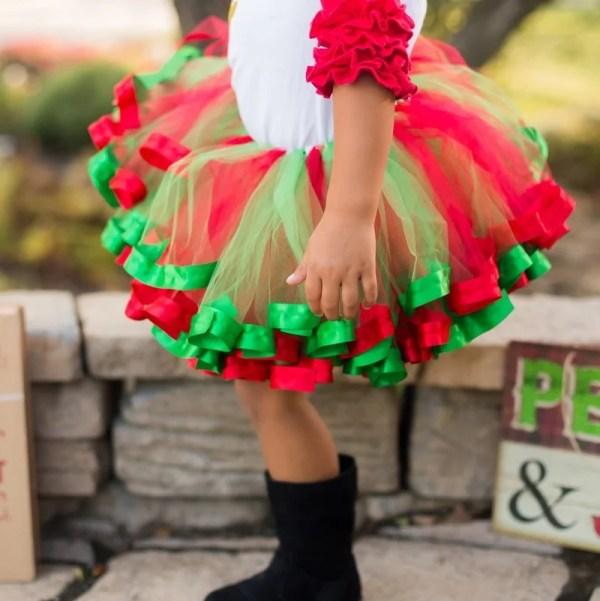 girls christmas tutu outfit