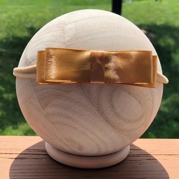 gold bow headband for baby girl