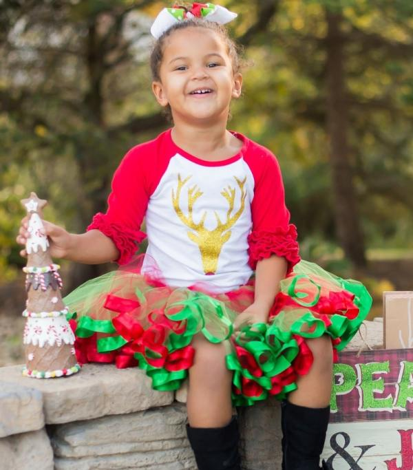 green and red tutu dress