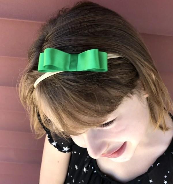green bow headband for christmas