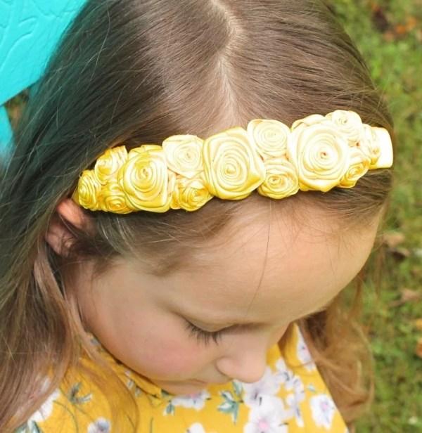headband with flower ribbon