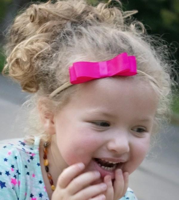 hot pink baby bow headband
