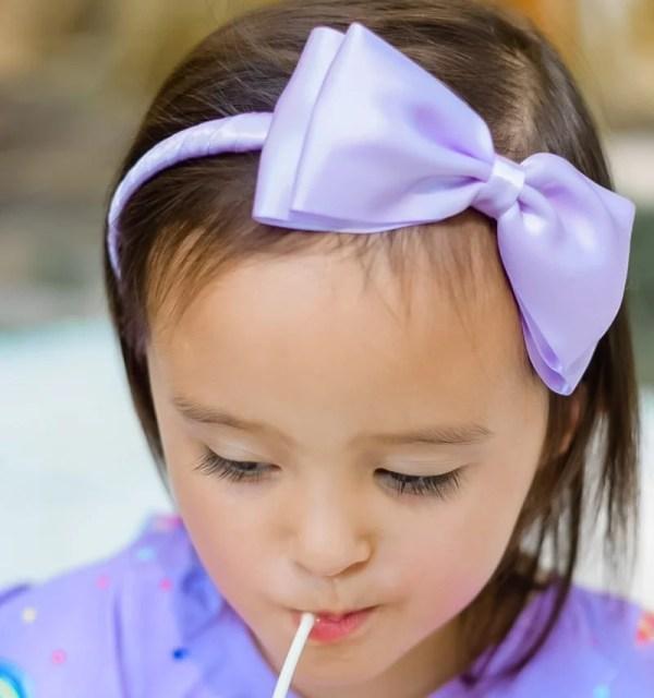 lavender purple headband bow