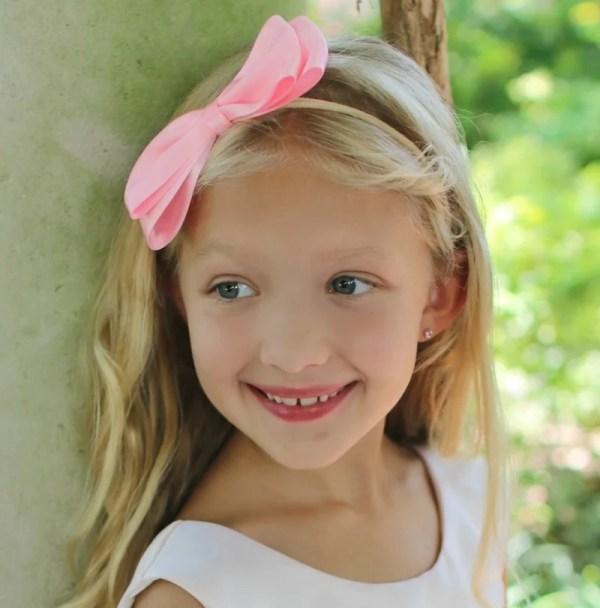 light pink headband for toddler