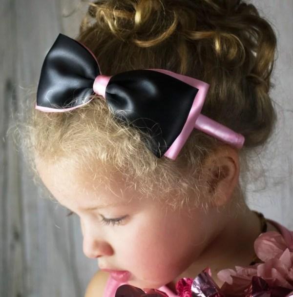 pink and black headband