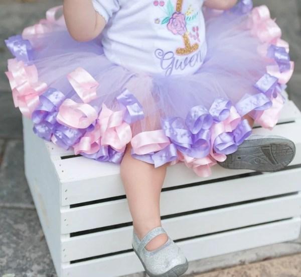 pink and purple tutu dress