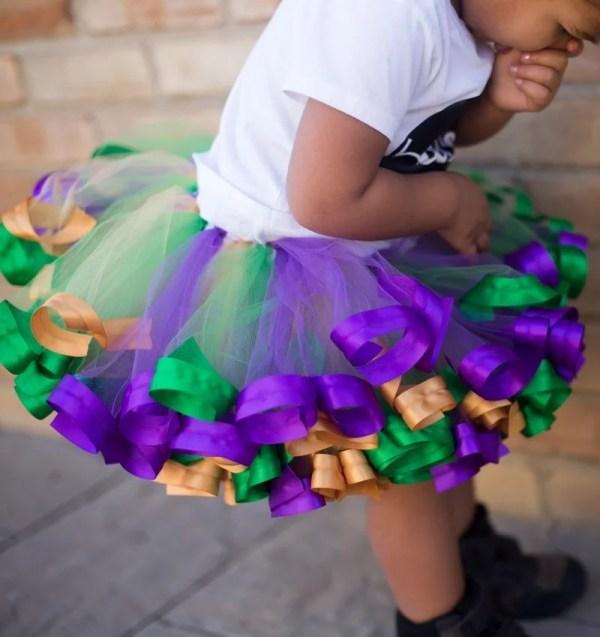purple and green tutu skirt
