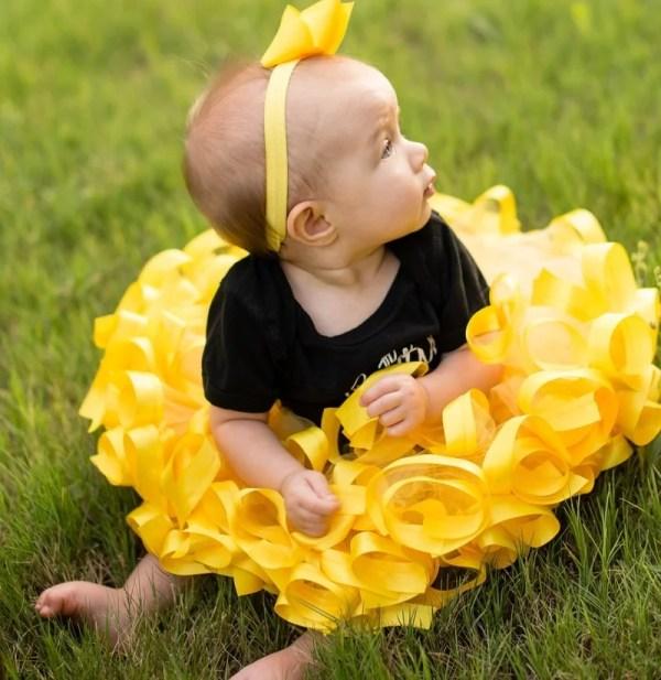 yellow ballet tutu dress