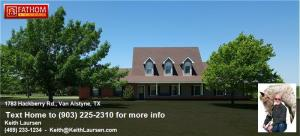 Van Alstyne, TX home for sale on 18 acres