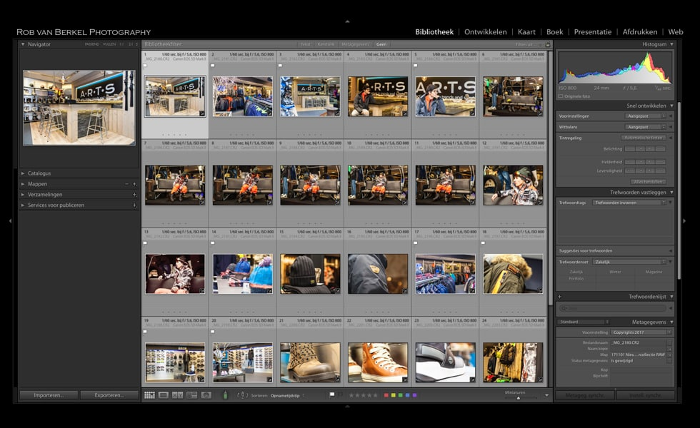 Lightroom Bibliotheek Module
